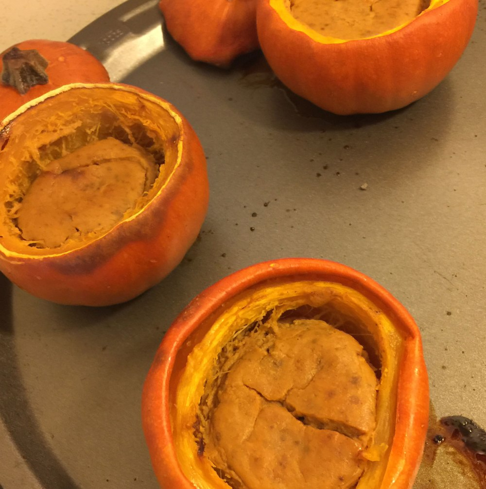 pumpkin pie mini pumpkins next day